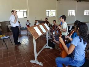 Ensaio com a Orquestra de Cordas Infanto Juvenil de Paraguaçu Paulista, 17/03/2018
